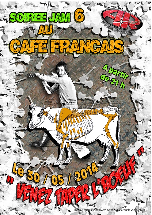 Affiche Boeuf Café Français